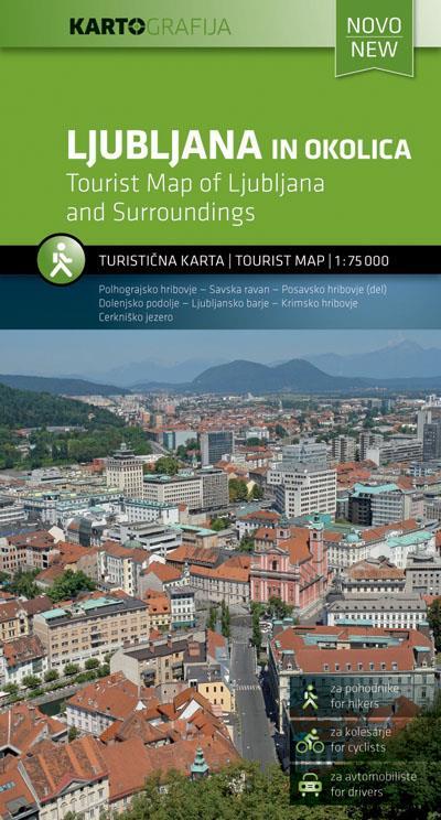 Zemljevid Ljubljana in okolica 1:75.000