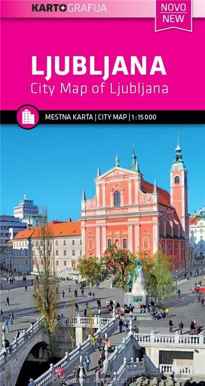 Zemljevid Ljubljana 1:15.000