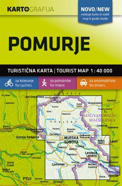 Zemljevid 1:40.000 Pomurje