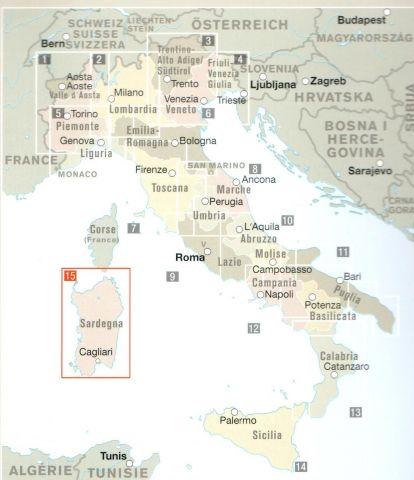 Italija Pokrajinske Karte Avtokarte Cestni Zemljevidi